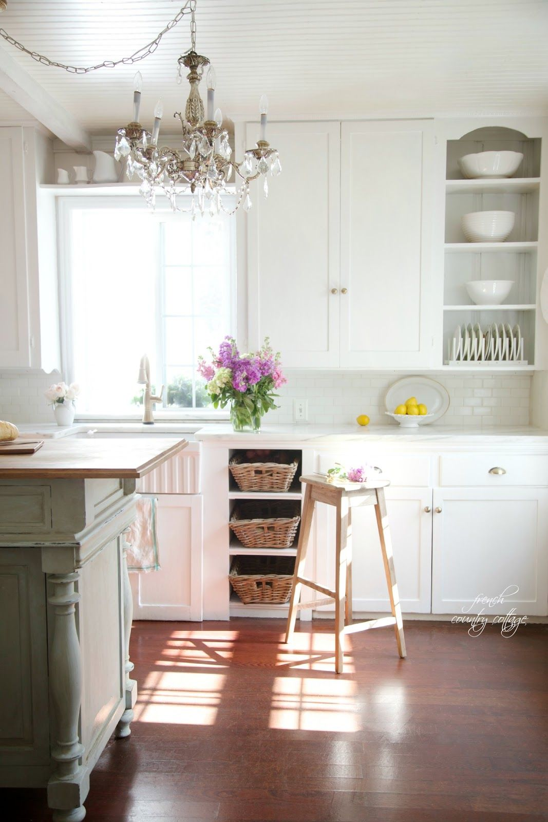French Cottage Kitchen Refresh Reveal French Country Cottage Cottage Kitchen Cabinets French Country Kitchens Country Kitchen