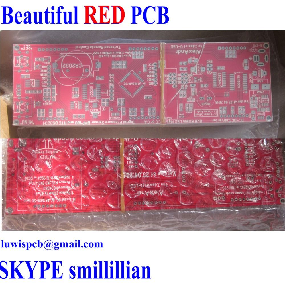Find More Double Sided Pcb Information About Red Prototype Doublesided Printed Circuit Boards Prototypeprinted Board Manufacturer