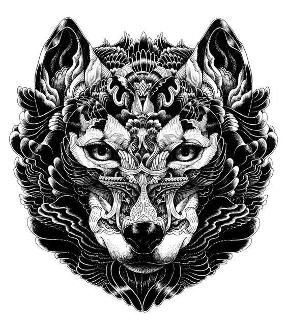 ornate animal drawing - Buscar con Google