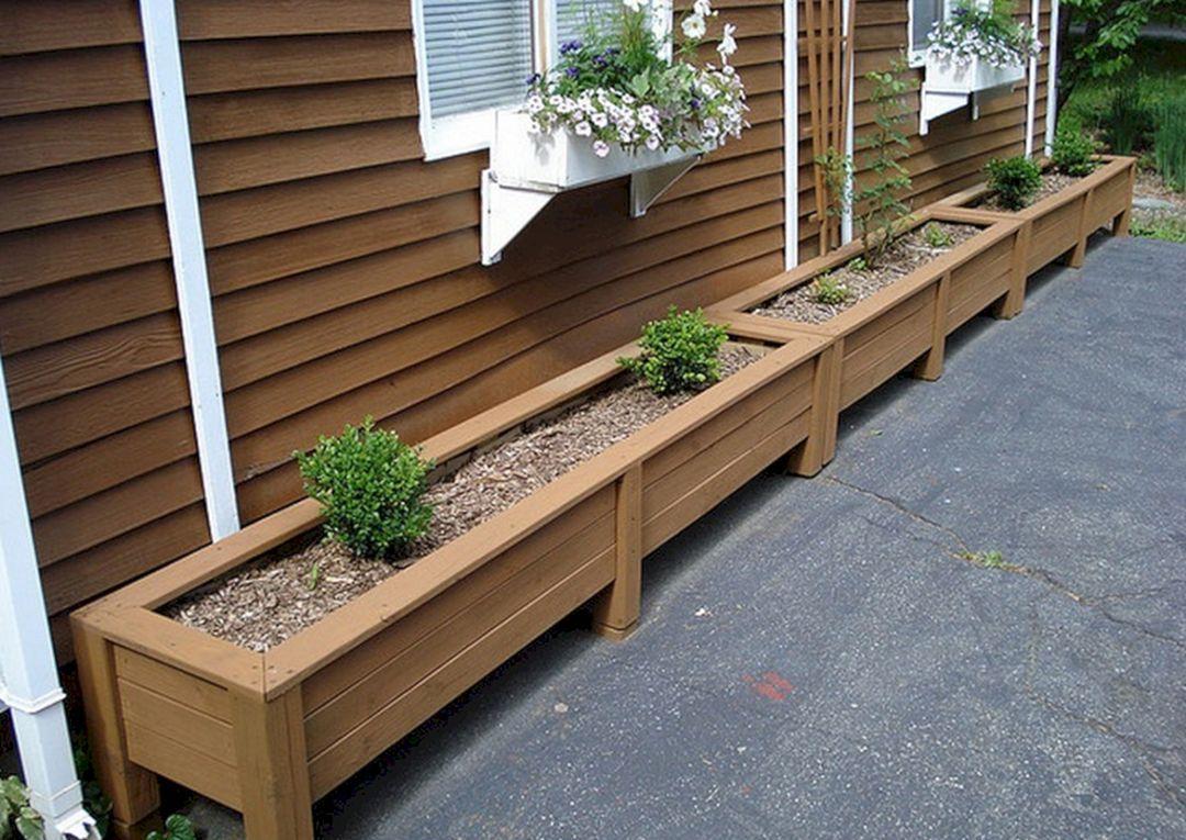 Diy Wooden Planter Box Ideas 5 In 2020 Garden Planter Box Plans Garden Planter Boxes Deck Planters
