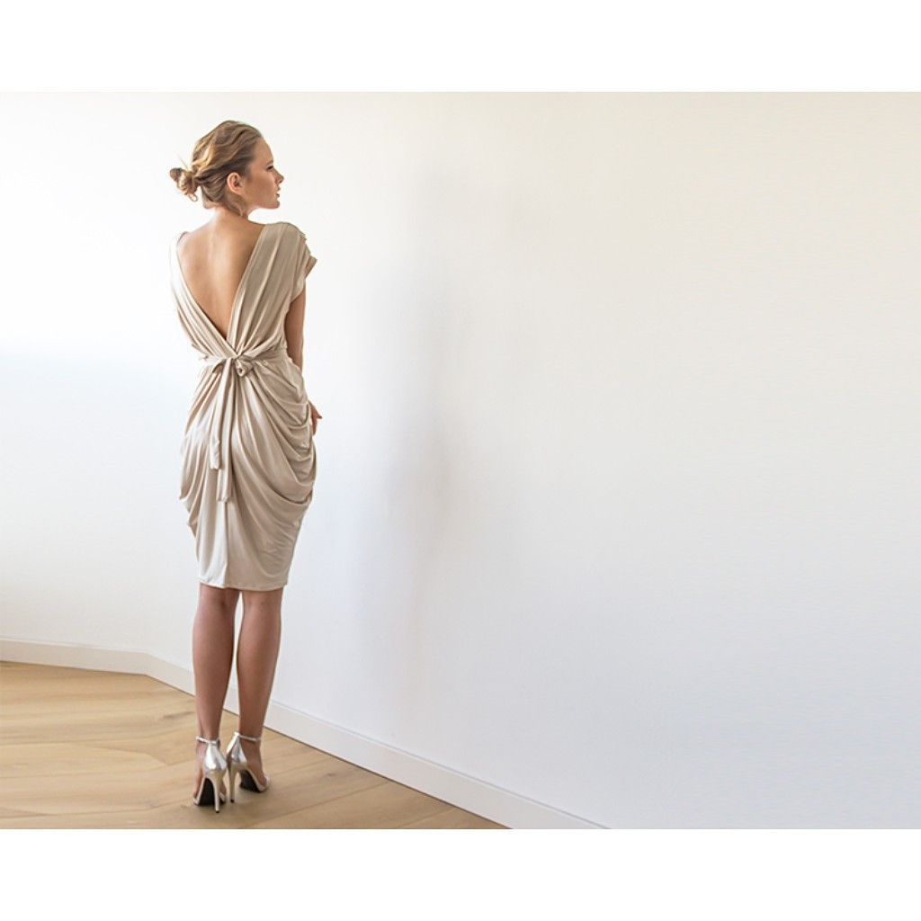 Made to order a magnificent sexy party dress a feminine modern cut