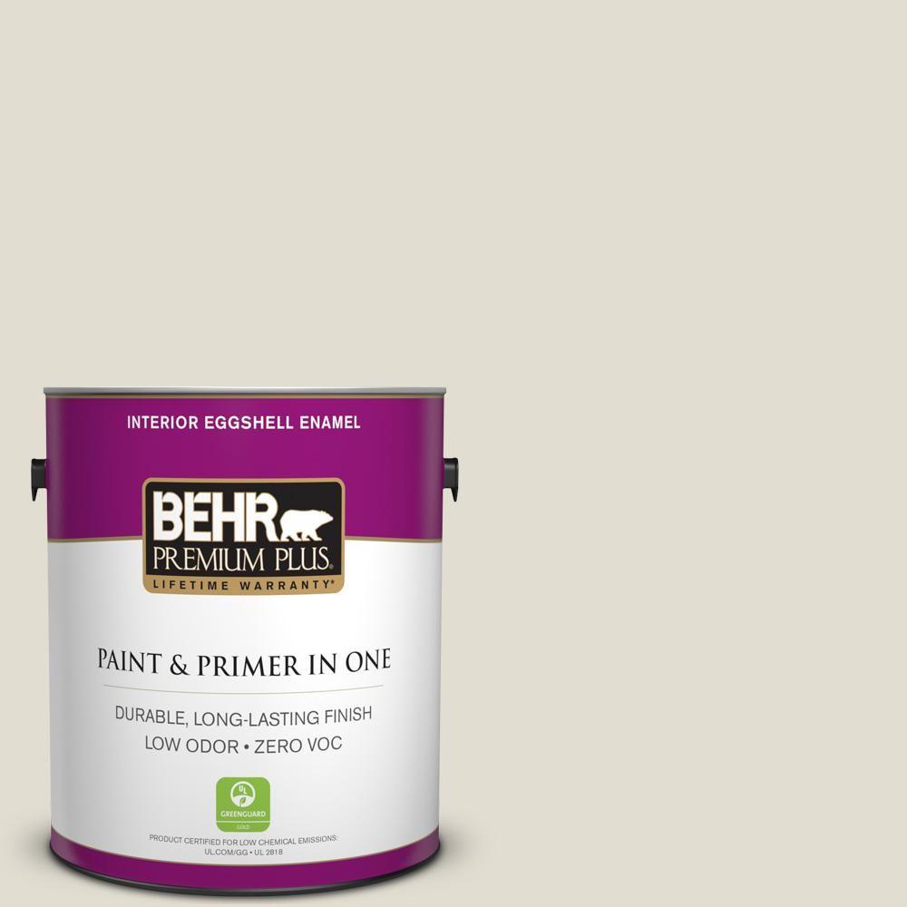 BEHR Premium Plus 1-gal. #N340-1 Light Granite Eggshell Enamel Interior Paint