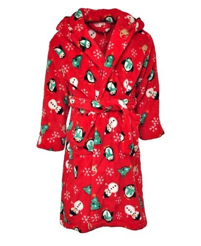 Ladies Lovehearts Print Plush Fleece Long Hooded Poncho Robe 2 Colours One Size Fits All