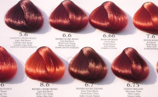 40 Awesome Red Color Chart Images Hair Pinterest Red Hair