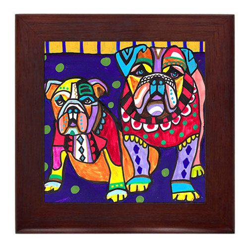 50 Off English Bulldog Art Framed Ceramic By Heathergallerart 25 00 Dog Print Art English Bulldog Art Bulldog Art