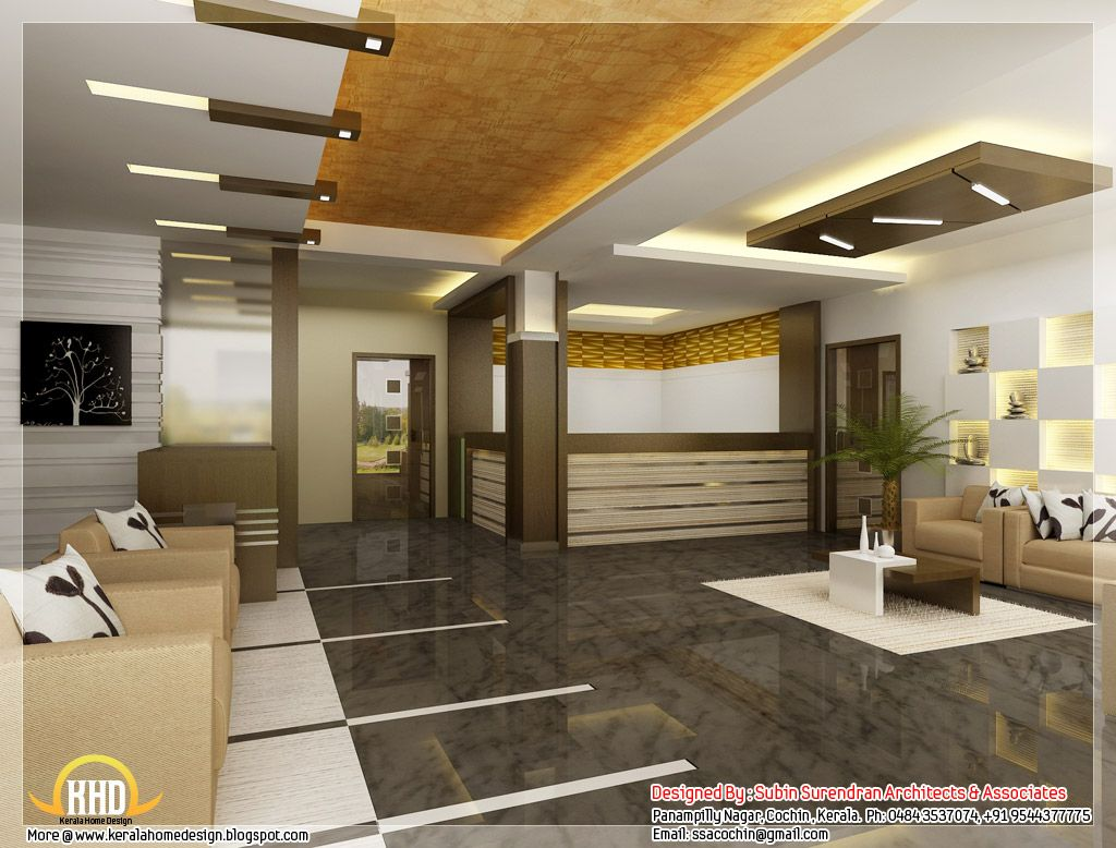 Home office interior design ideas beautiful 3d interior for Medical office interior design