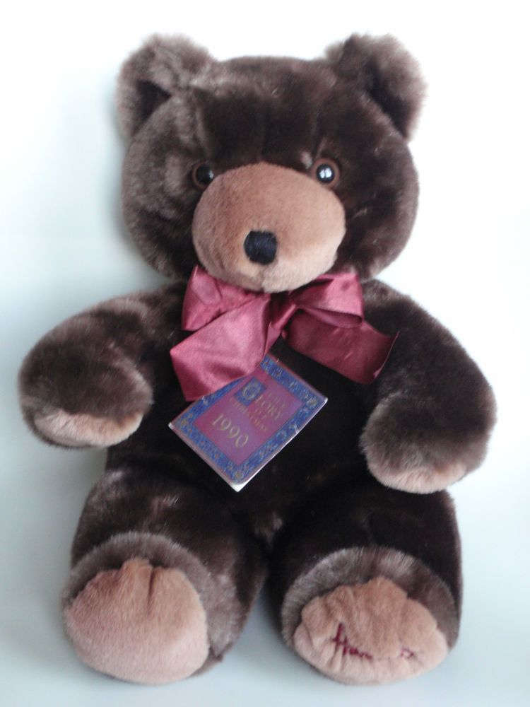 2bd0ded83110 Harrods 1990 Foot Dated 13 Annual Christmas Teddy Bear with Ribbon Bow  Tagged