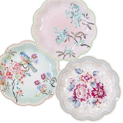 Truly Romantic Tea Party Plates   Afternoon tea parties, Tea parties ...