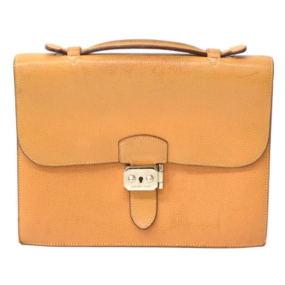 69895bee13a1 Authentic Hermes Sac A Depeche 27 Business Hand Second Bag Leather Camel  2006  fashion  clothing  shoes  accessories  mensaccessories  bags  ad  (ebay link)