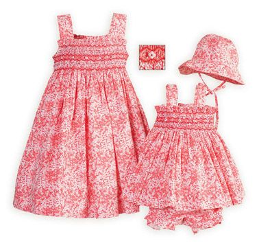 202f4839525d Tiny Coral Floral Smocked Sister Sundresses