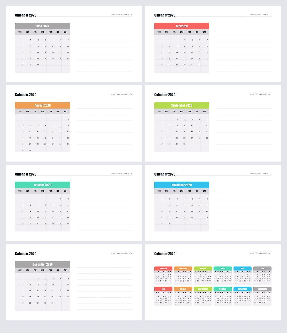 Calendar 2020 For Powerpoint Ad Files Pptx Ppt Support Ad