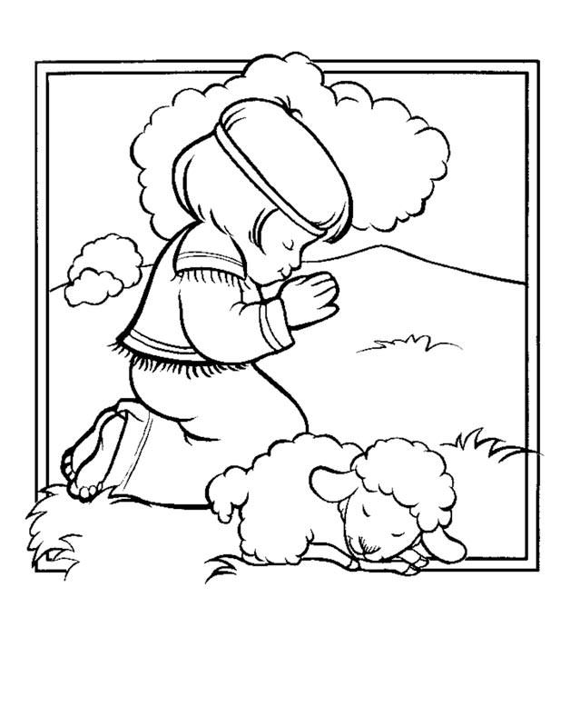 david and lamb coloring sheet google search - Jesus Praying Hands Coloring Page