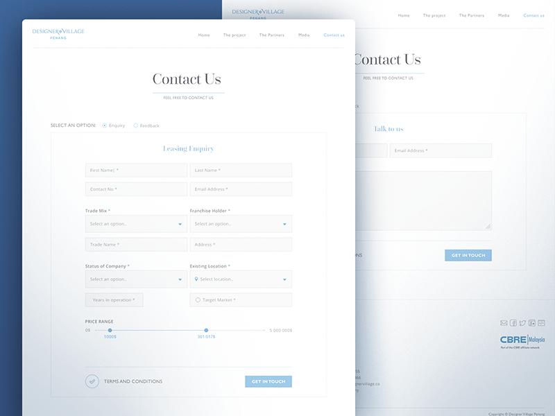 Contact Us Page Contact Us Page Design Web Design Mobile Web Design