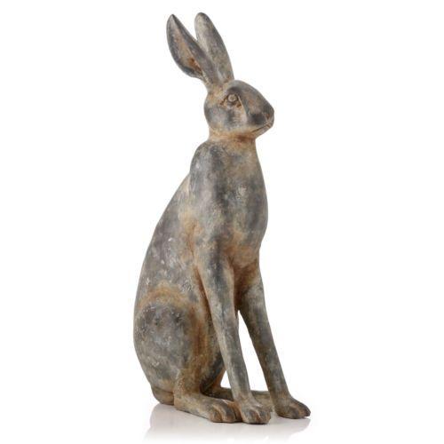 Garden Ornament March Hare Rabbit Animal Sculpture indoor outdoor Wood Effect