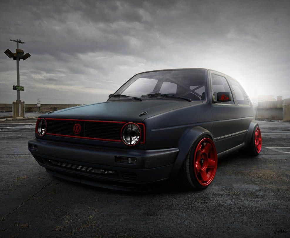 Golf Mk2 I Like Red With Black By Hugosilva Vwgliart Volkswagen Golf Mk2 Golf Mk2 Vw Golf Wallpaper