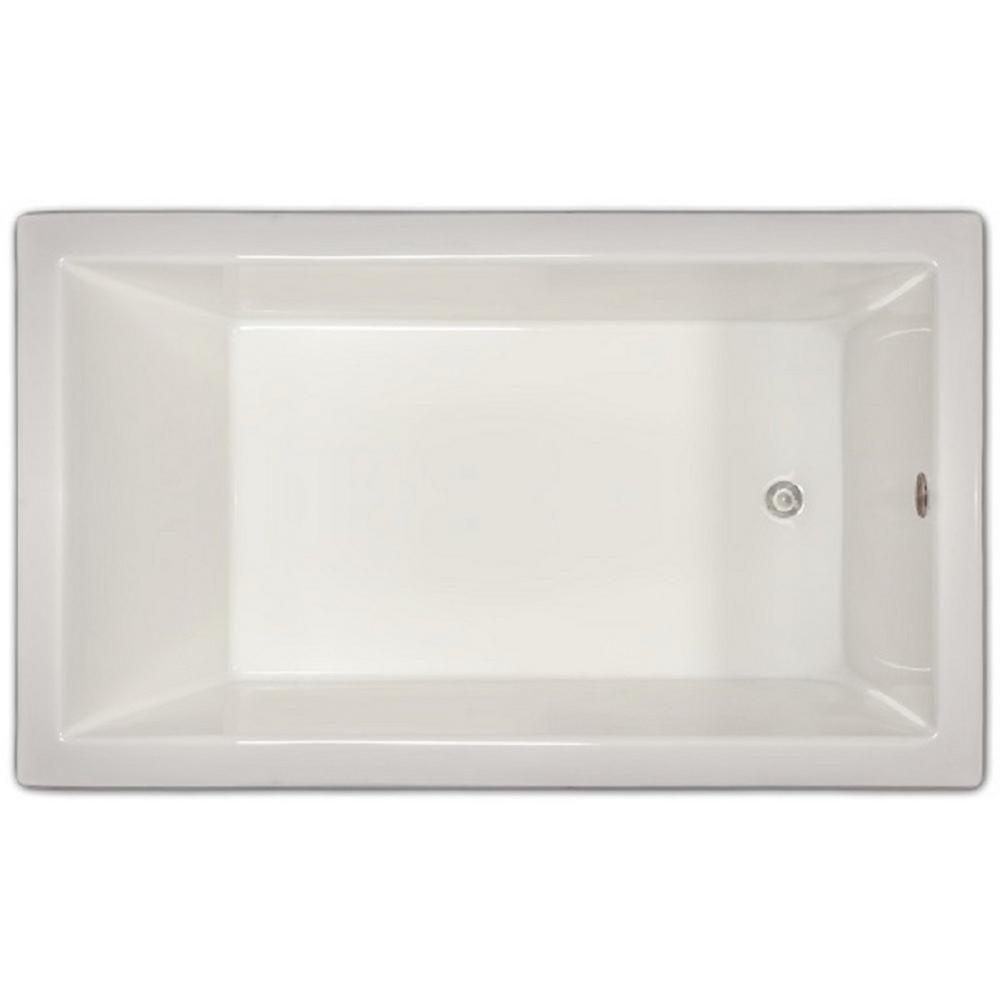 4.96 ft. Rectangular Drop-in Non-Whirlpool Bathtub in White-LPI18-S ...