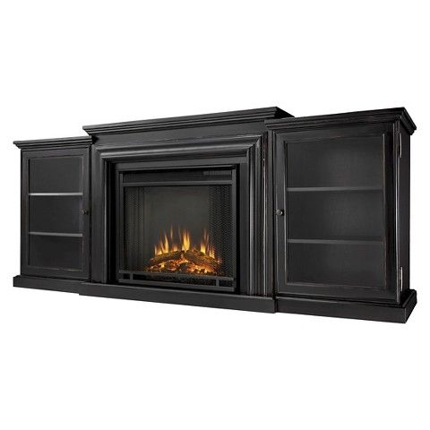 Real Flame Frederick Electric Tv Media Fireplace Black