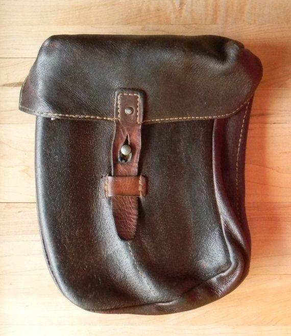 Large Vintage Weatherproofed Leather Belt by CuriosityShopper