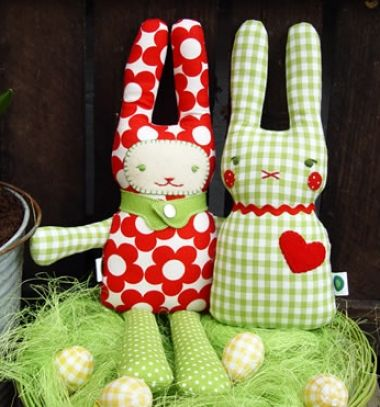 DIY easter bunny soft toys (with sewing pattern) // Puha nyuszis ...