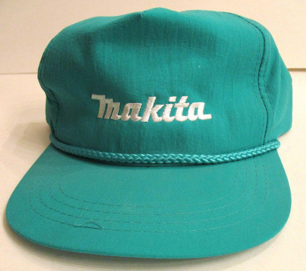 41fa099cb Makita Power Tools Baseball Hat Teal Adjustable Snap Back Cap ...