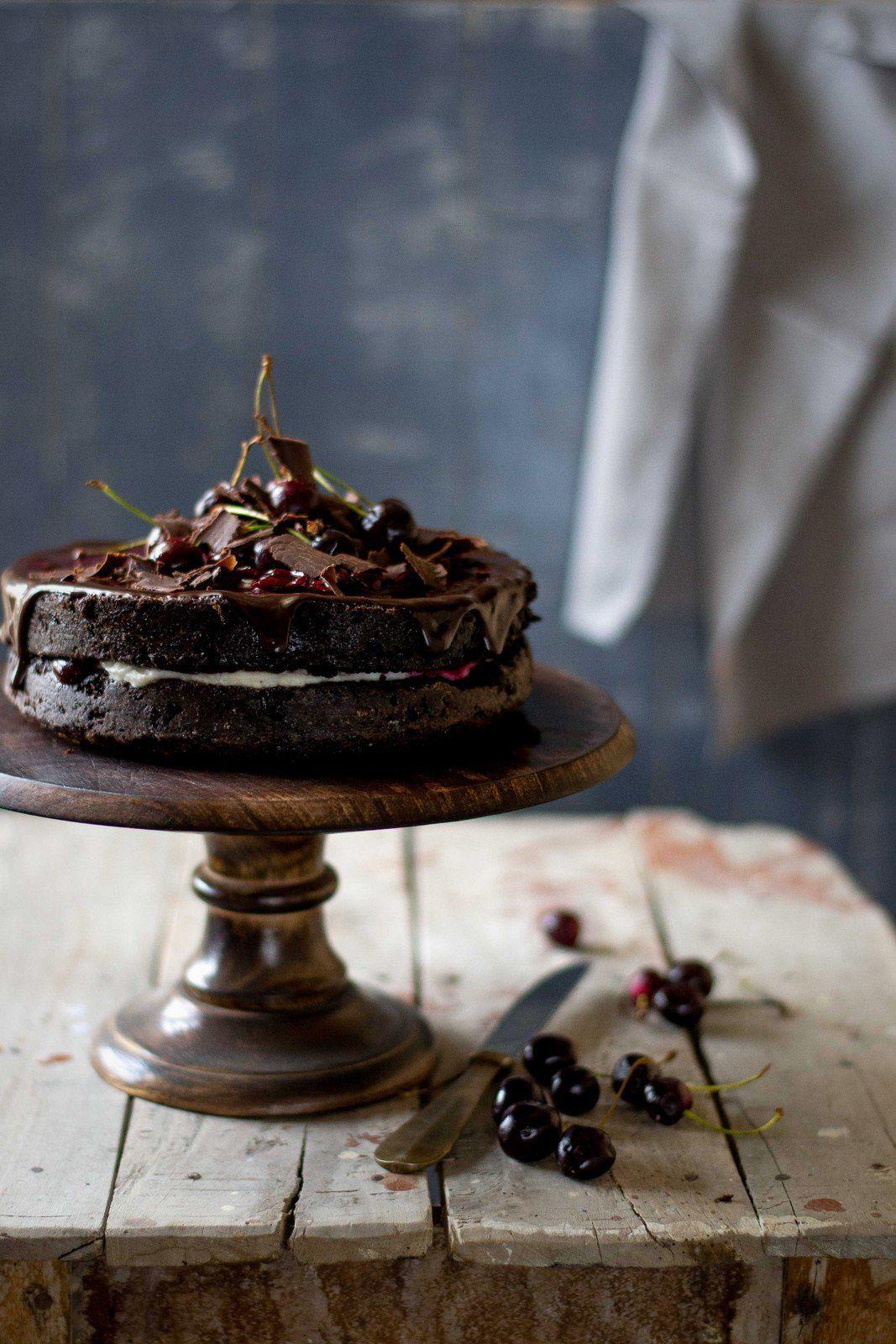 Chocolate Yogurt Cake With Balsamic Cherry Filling 2