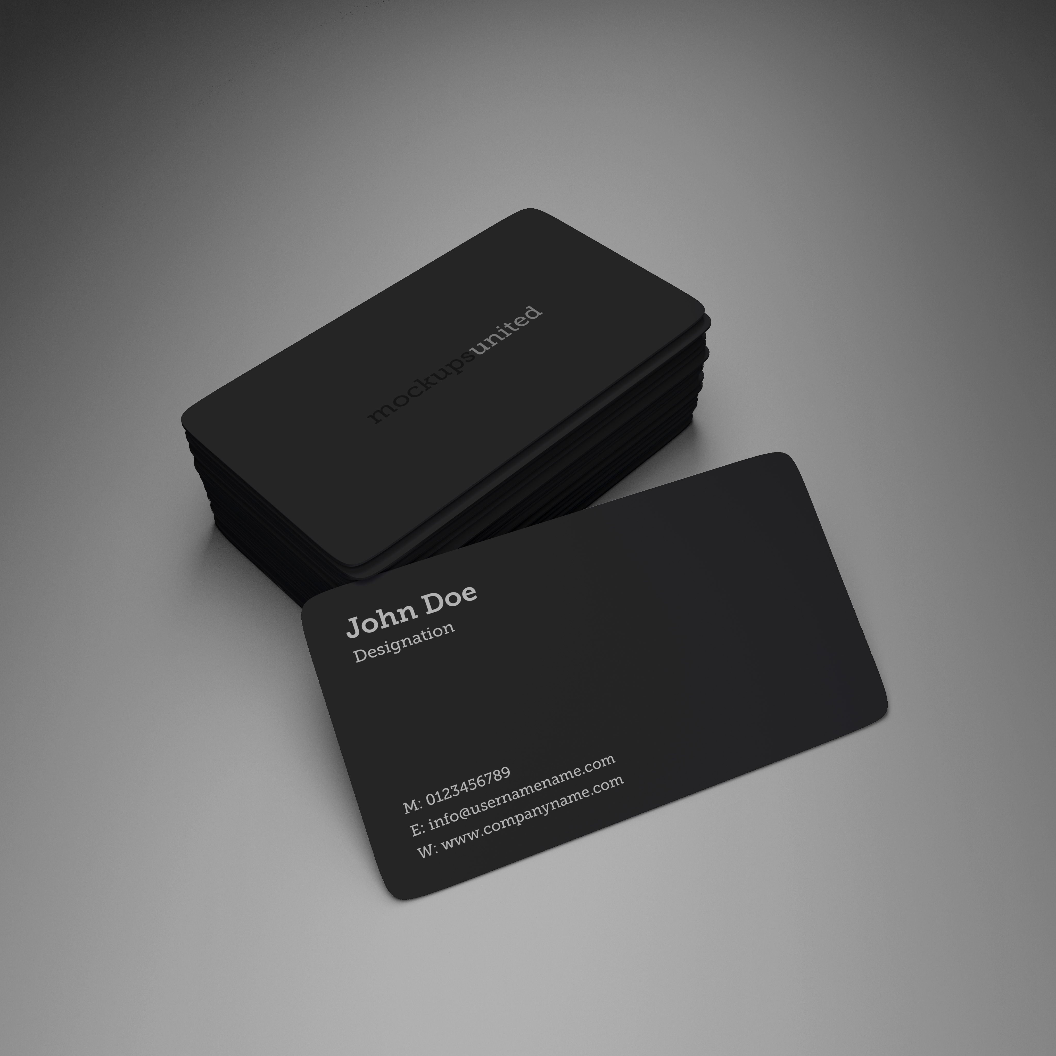 rounded corner business card mockup product design