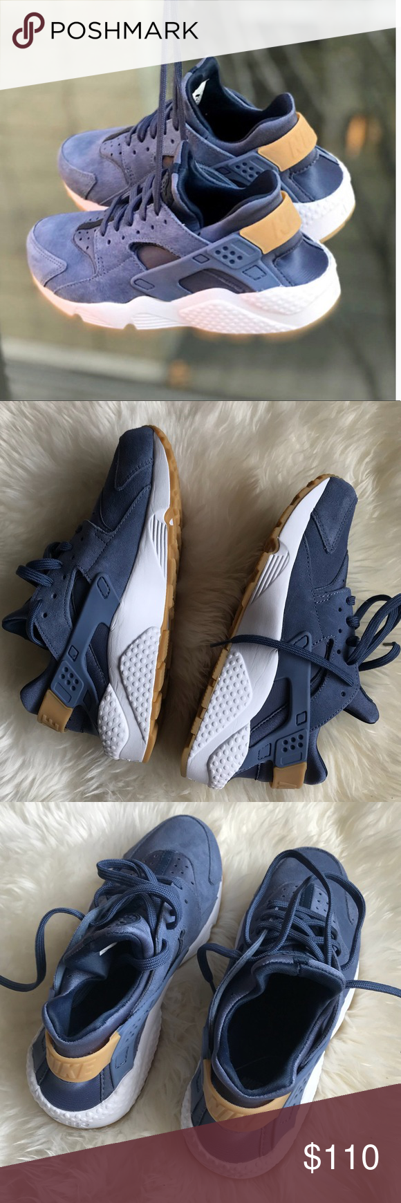 outlet store 61784 f31c3 Nike air huarache run sd sneakers, diffused blue True to size. Nike Air  cushioning pairs with strategically placed rubber pods to provide comfort  and ...
