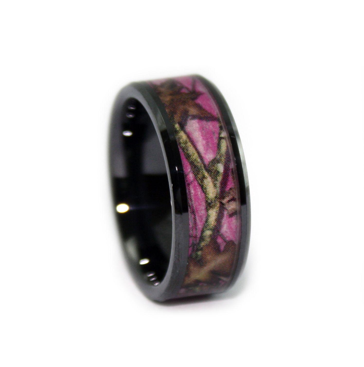 1 Camo Wedding Rings & Camouflage Gear - ONECAMO.com | Pink mossy ...