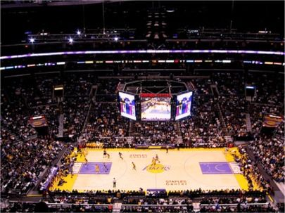 Staples Center Nba Arena Of The Los Angeles Lakers Los Angeles Clippers Insidearenas Com Nba Arenas Los Angeles Clippers Staples Center