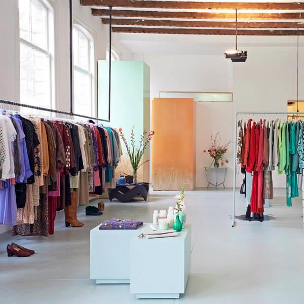 www.vandekeijzer.com   Making & Invent | Furniture | Inside & Outside  Color-Faded dressingrooms, made by Furniture designer VanDe Keijzer for DearHunter Vintage Rotterdam