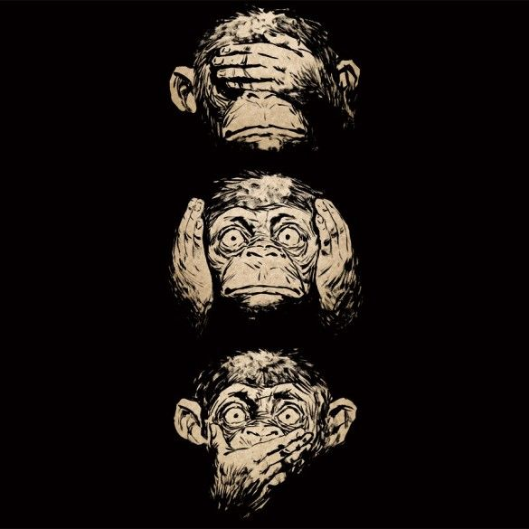 Daily Tee 3 Wise Monkeys Custom T Shirt Design Monkey Tattoos Wise Monkeys Monkey Drawing