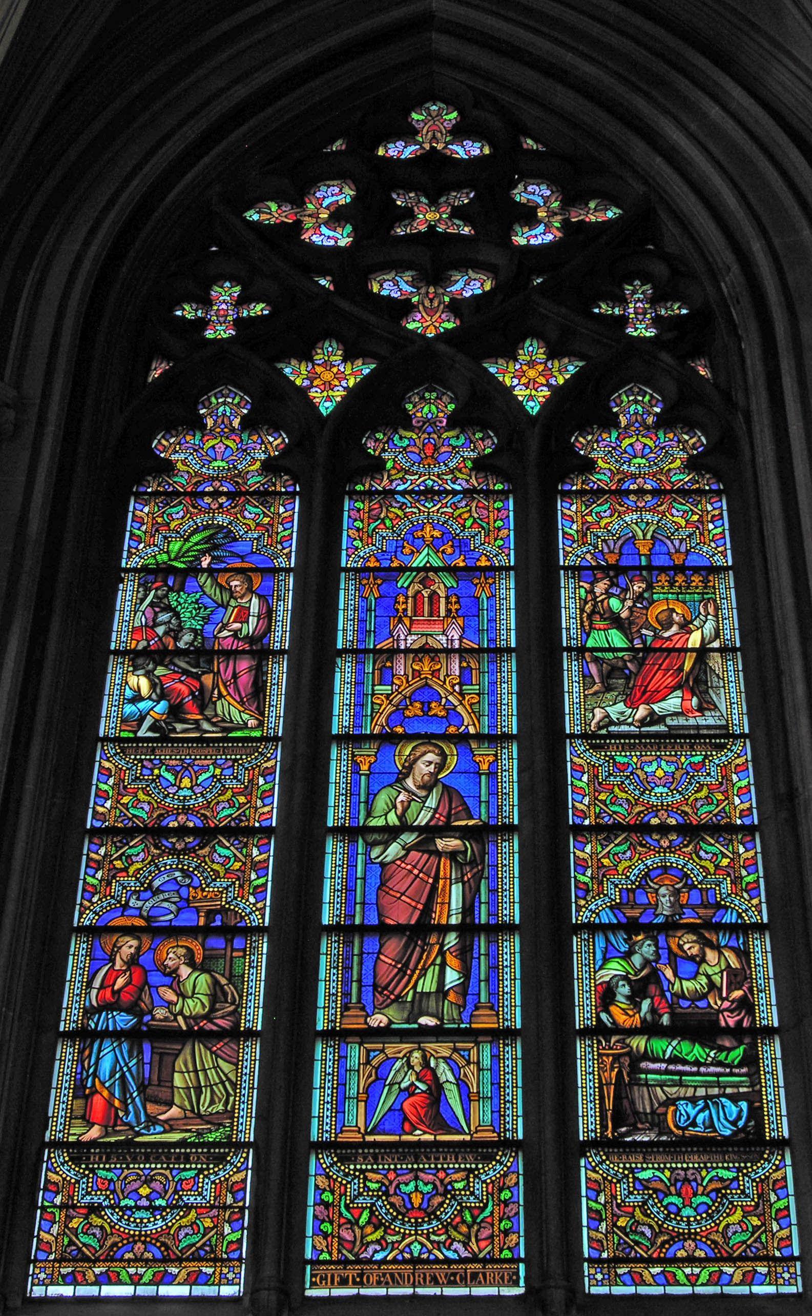 St Matthew Window Gift Of Andrew Clarke St Patrick