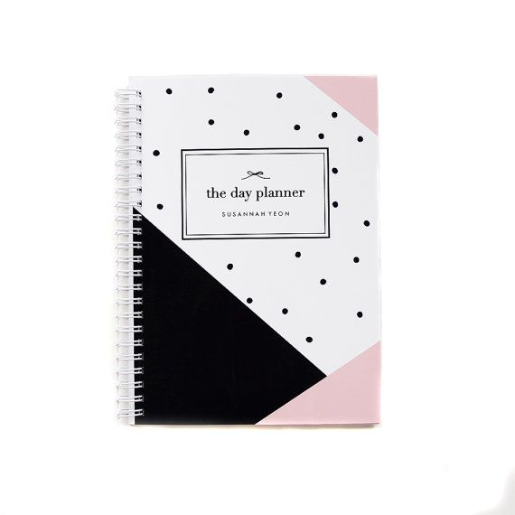 Undated Daily Planner Notebook Personalized