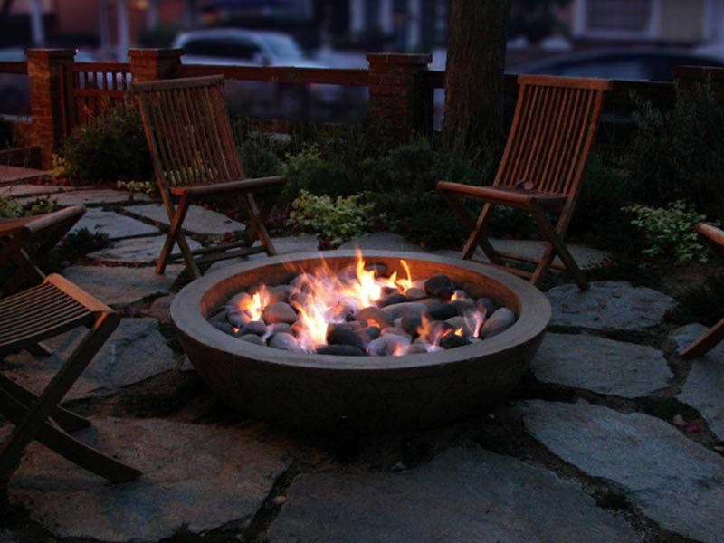 Concrete Fire Pit Bowl Uk Backyard Remodel Pinterest