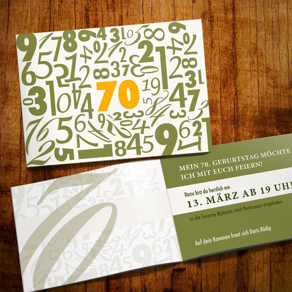 Einladungskarte Geburtstag Feinart