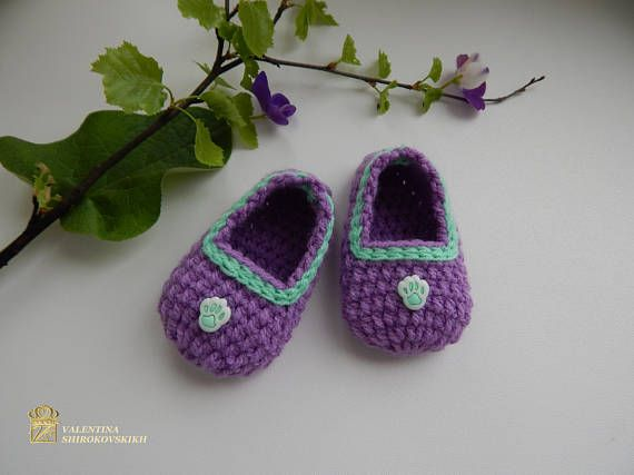 Crocheted Baby Slippers. Baby Shower Favors Baby Booties Are The Perfect  Gift To Give For A Baby Shower.Baby Bootie For Baby Shower Favor Or  Decoration ...