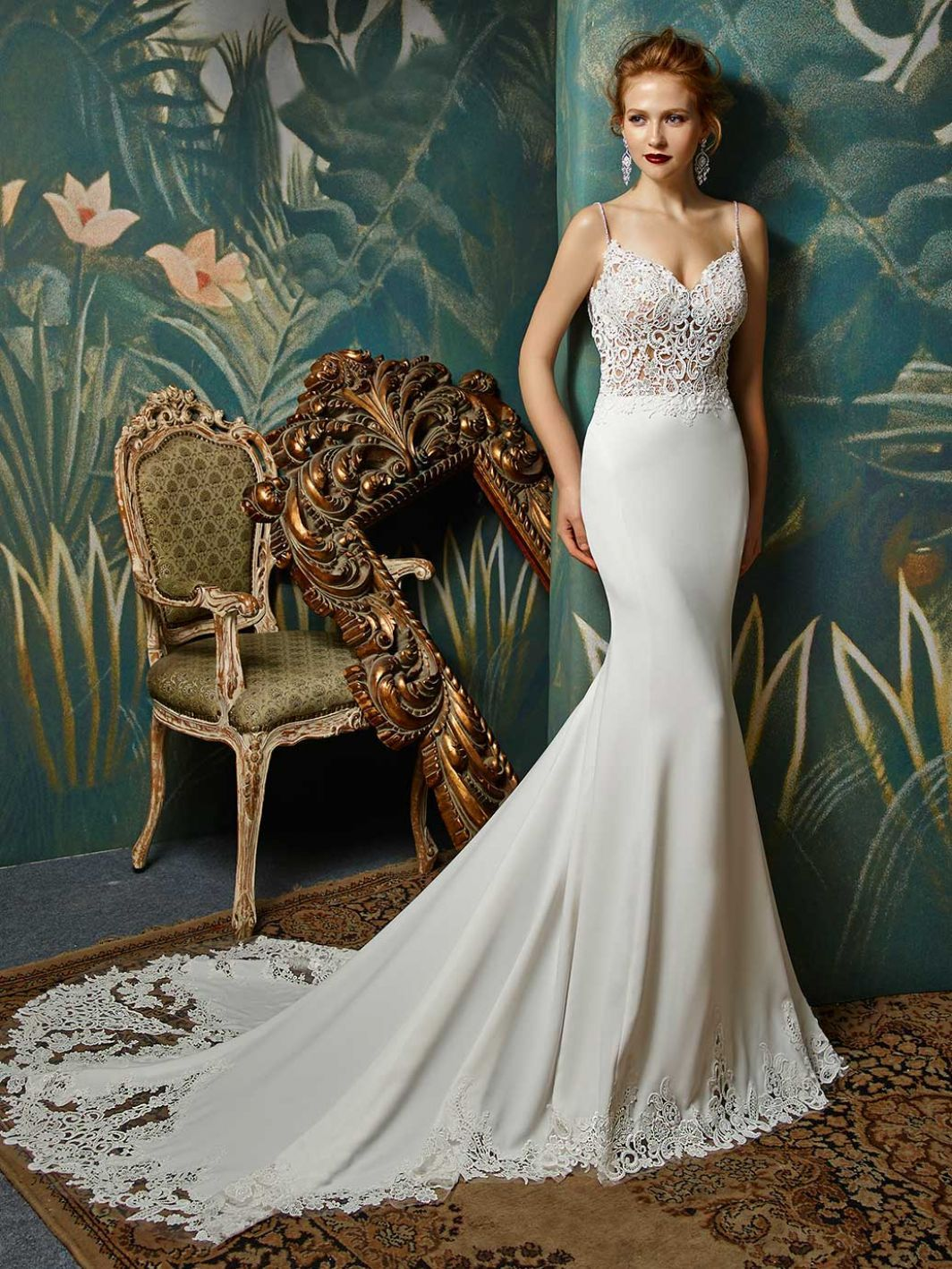 White and blue wedding dress   Blue by Enzoani Juri Front View  Renewal Dresses  Pinterest
