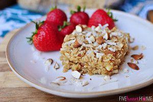 Coconut Almond Baked Oatmeal | FaveHealthyRecipes.com
