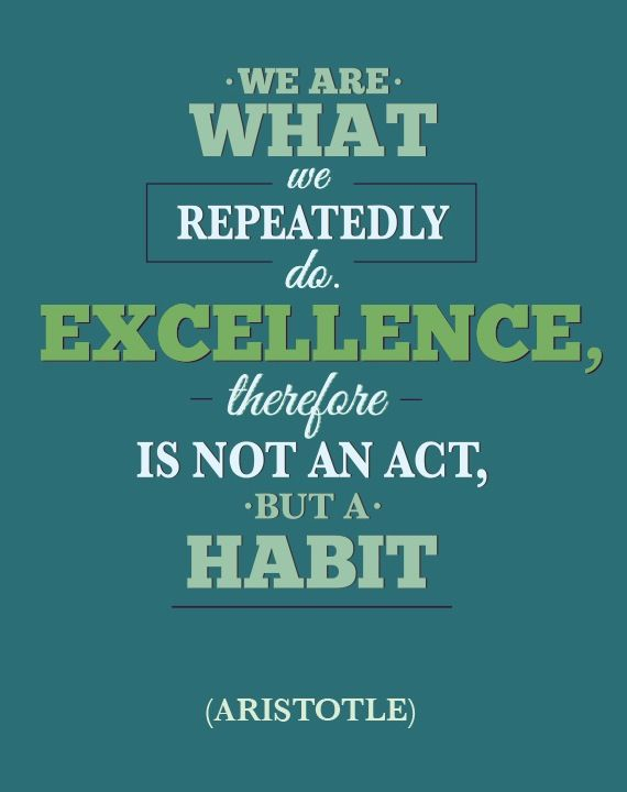 Excellence Quote From Aristotle Leadership Quotes Pinterest Classy Excellence Quotes
