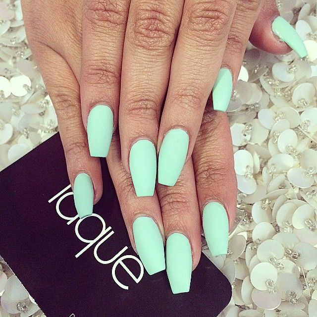 Mint Nails Teal Nails Mint Green Nails Spring Nail Colors