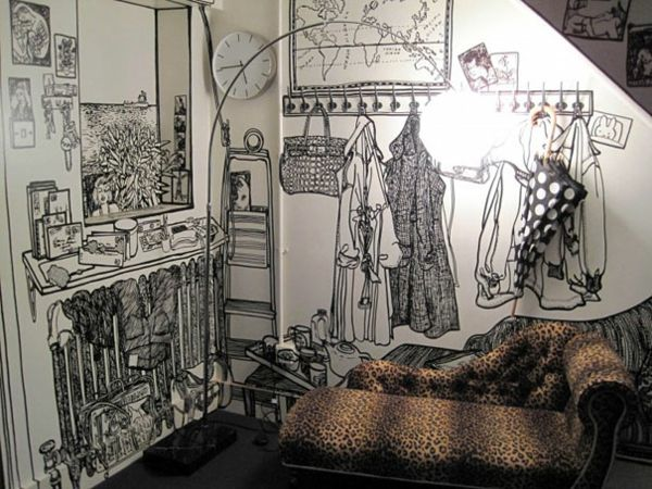 W nde gestalten ideen die wandbilder von charlotte mann - Kreative wandbemalung ...