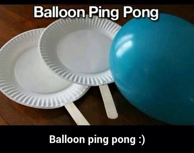 Cute balloon ping pong idea