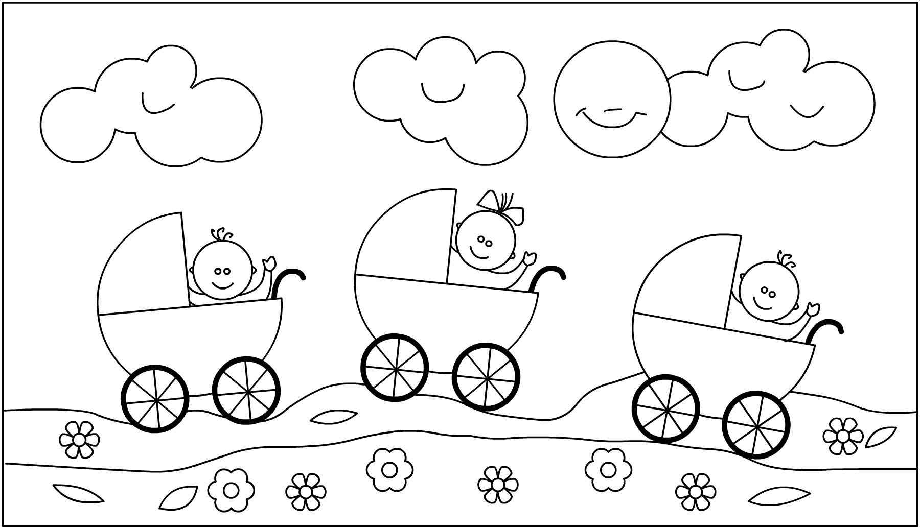 Kleurplaten Baby Born.Kleurplaat Thema Baby Imprimibles Knutselen Thema Baby Baby