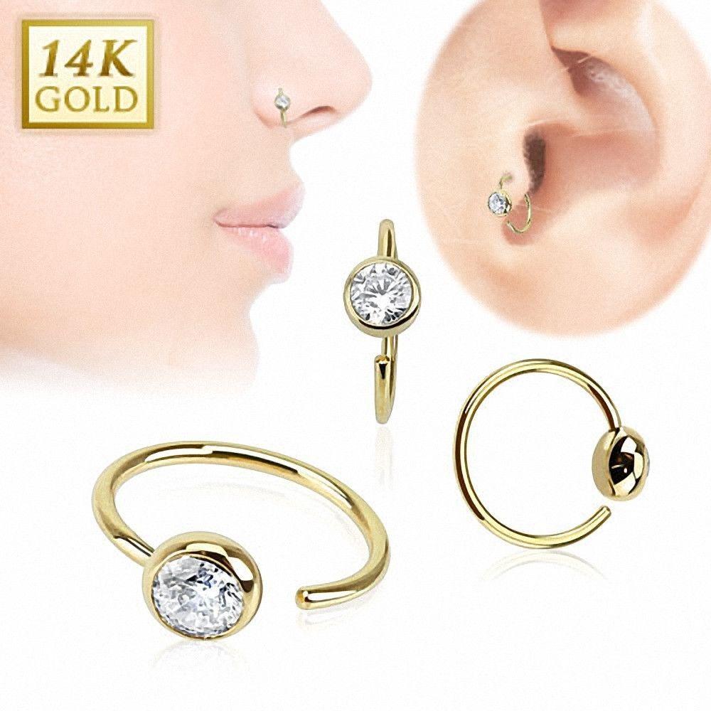 Piercing nez Anneau Or  Carats strass  ear jewelry  Pinterest