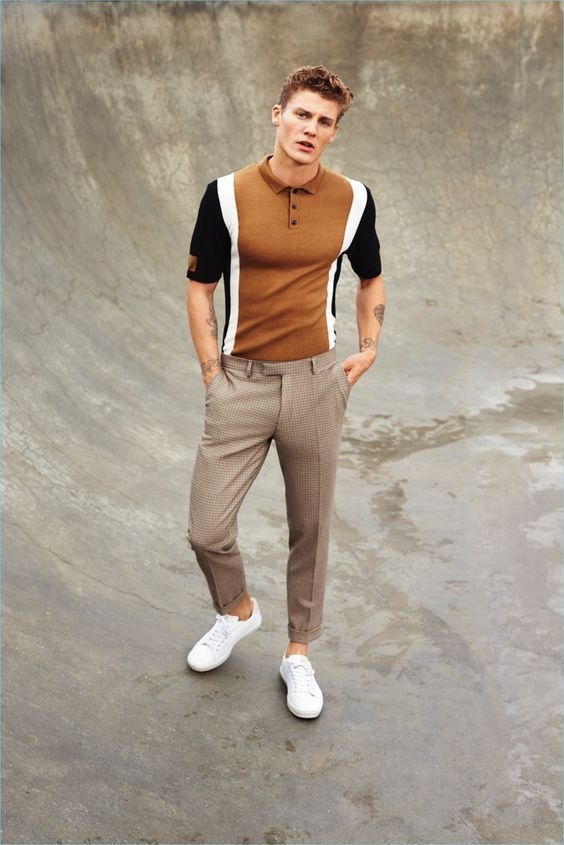 polo shirt and trouser outfit for men 96e2ce12b070e
