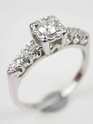 Vintage Engagement Ring with Illusion Setting RG3461 European