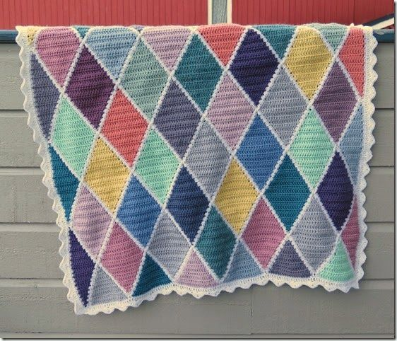 Harlequin blanket, tutorial with charts by Soltrikke | crochet ...
