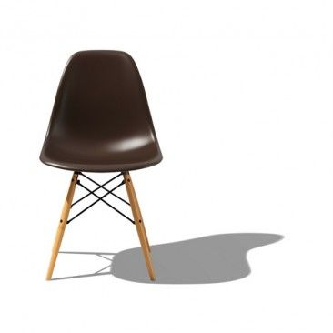 Eames Molded Plastic Side Chair with Dowel-Leg Base|YLiving