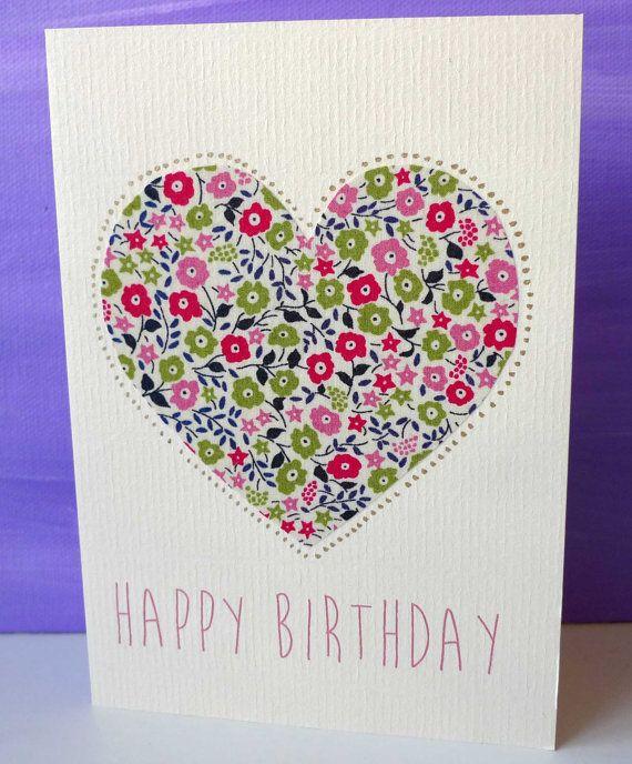 Liberty London Birthday Cards Fabric greeting cards – London Birthday Cards