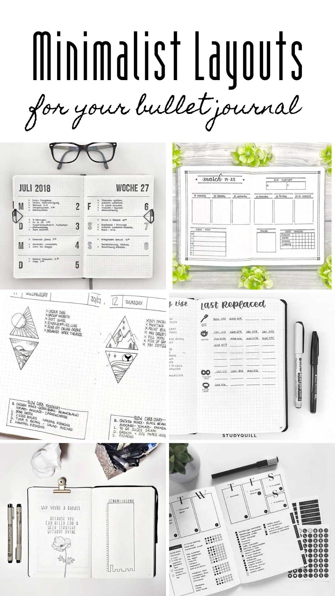 These Minimalist Bullet Journal Spreads Will Inspire You To Embrace Simple Bullet Journal Minimalist Minimalist Bullet Journal Layout Bullet Journal Layout